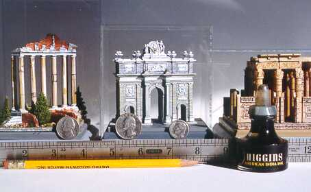 Photo showing the scale of miniatures